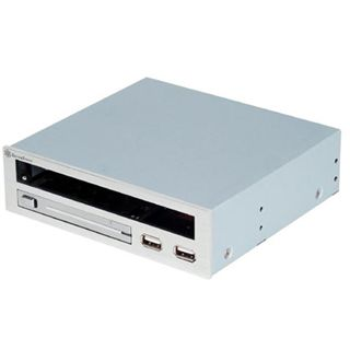 Silverstone Treasure Multifunktion USB 2.0 silber Front Panel und