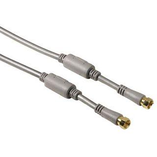 (€8,60*/1m) 1.50m Hama Antenne Anschlusskabel F-Stecker auf F-Stecker Silber Ferritkern/geschirmt/vergoldet