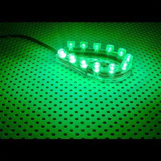 LAMPTRON 12cm grünes LED-Strip mit 12 LEDs für 4-Pin Molex