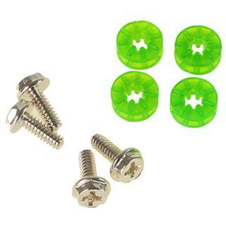 LAMPTRON 4x Schraube + Gummi Unterlegscheibe UV grün Montage Kit