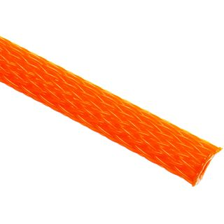 (€3,90*/1m) King Kits 1.00m Gewebeschlauch 6mm Orange