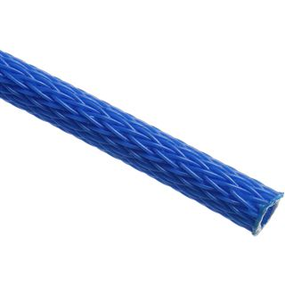 (€3,90*/1m) King Kits 1.00m Gewebeschlauch 6mm Neon Blau