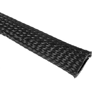(€6,90*/1m) King Kits 1.00m Gewebeschlauch 13mm Schwarz