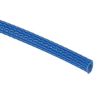 (€3,90*/1m) King Kits 1.00m Gewebeschlauch 6mm Blau