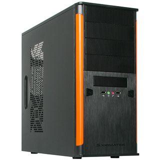 Xigmatek Asgard II gedaemmt Midi Tower ohne Netzteil schwarz/orange
