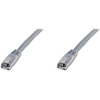 (€1,63*/1m) 3.00m Digitus Cat. 5e Patchkabel FTP RJ45 Stecker auf RJ45 Stecker Grau Knickschutzelement