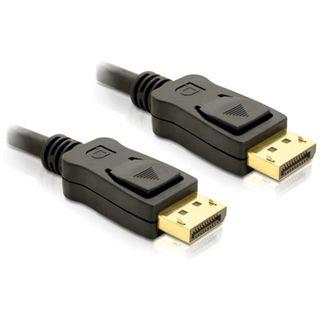 (€7,90*/1m) 1.00m Delock Displayport 1.2 Anschlusskabel Displayport Stecker auf Displayport Stecker Schwarz vergoldet