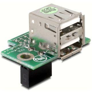 Delock USB Pinheader Buchse zu 2x USB 2.0 41762