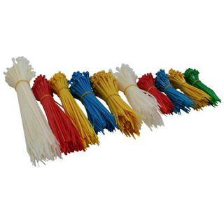 InLine Kabelbinder-Set, 4 Größen, div. Farben, 1000 Stk.
