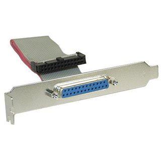 InLine Slotblech Parallel mit 25pol Sub D Buchse an 26-pin