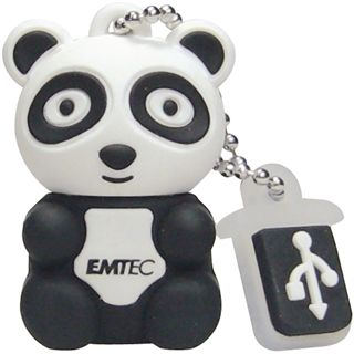 4 GB EMTEC M310 Panda schwarz/weiss USB 2.0