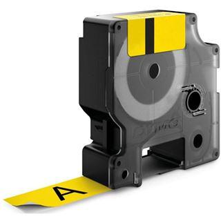 Dymo RHINO BAND ID1 NYLON Schwarz auf Gelb 24mm