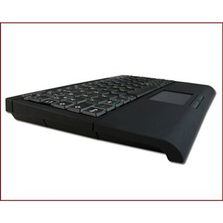 KeySonic ACK-340BT Super Mini Touchpad Tastatur Schwarz Deutsch USB
