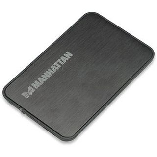 """2.5""""(6,35cm) Manhattan 130196 Laufwerksgehäuse SATA USB 3.0 Schwarz"""