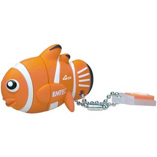 4 GB EMTEC M317 Clown Fish schwarz/weiss USB 2.0
