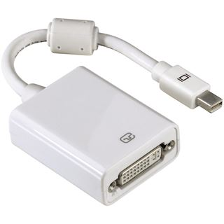 Hama Displayport 1.1 Adapter Mini Displayport Stecker auf DVI 24+5 Buchse Weiß