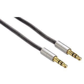 Hama Verbkab. AluLine Klinke 3,5 mm, Stecker - Stecker, f. iPhone 3G/S, 0,5 m