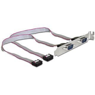 Delock Kabel Adapter Slotblech 2xseriell 9pol. St.