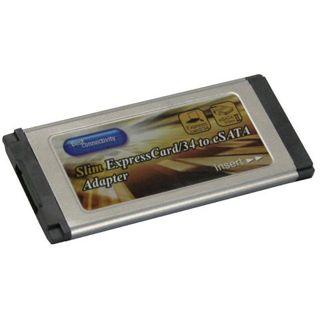 InLine PCMCIA Slim Express Card, , 1-Kanal eSATA Controller Karte