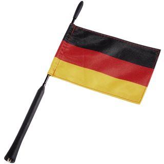 Hama Ersatzstab für GTI-Flex-Antennen, M5/M6, 40 cm mit Deutschlandfahne