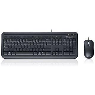 Microsoft Corded Desktop 400 Tastatur+Maus Schwarz Deutsch USB BULK 1er