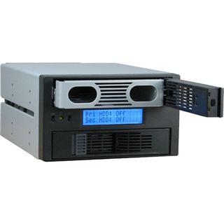 """Inter-Tech SUB RAID CobaNitrox SB-C 102 2x 5,25"""" Wechselrahmen für 2x 2.5"""" oder 3.5"""" Festplatten (SB-C 102)"""