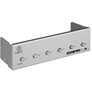 "Lian Li SATA Power Switch silber Front Panel für 5,25"" (BZ-H06A)"
