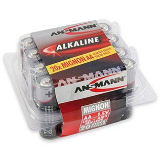 ANSMANN LR6 Alkaline AA Mignon Batterie 1.5 V 20er Pack