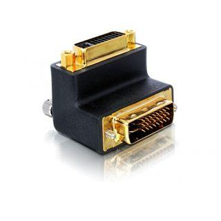 Delock Kabel Adapter 29pin DVI-St. > 29pin DVI-Bu. 90°abgewinkelt