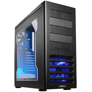 Lian Li PC-7FNWX Window All Black Midi Tower ohne Netzteil schwarz