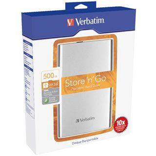 "500GB Verbatim Store 'n' Go Portable 2.5"" (6.35cm) Silber USB 3.0"