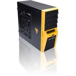 IN WIN Griffin Midi Tower ohne Netzteil schwarz/gelb