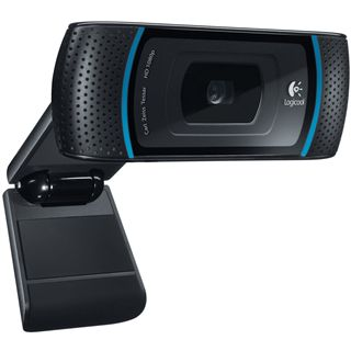 Logitech Web Kamera C910 Pro HD 2.0 MPixel 1920x1080 Schwarz USB 2.0