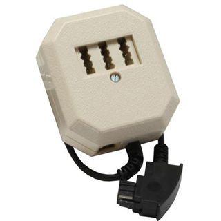 InLine TAE Adapter, TAE-F Stecker an TAE NFF + RJ11 (6P4C) Buchse,