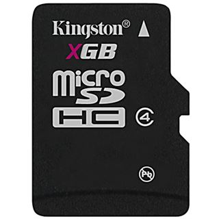 16 GB Kingston Standard microSDHC Class 4 Retail inkl. Adapter