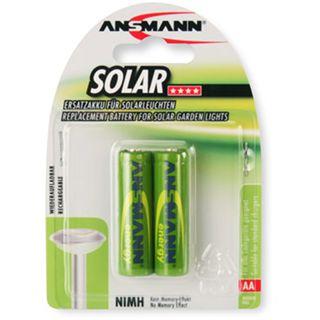 ANSMANN Solar Akku AA / Mignon Nickel-Metall-Hydrid 800 mAh 2er Pack