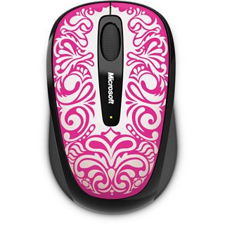 Microsoft Mouse 3500 USB weiß/pink (kabellos)