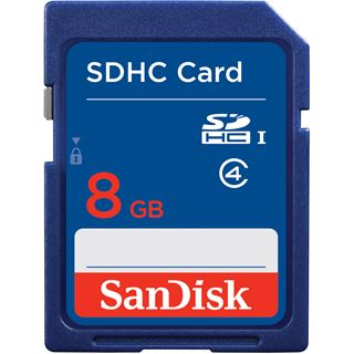 8 GB SanDisk Standard SDHC Class 4 Bulk