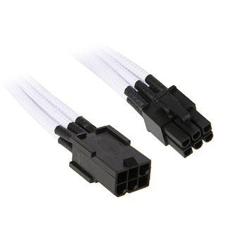 NZXT weißes 45cm 6-Pin Stromverbindungskabel für Grafikkarten (CBW-6V-45)