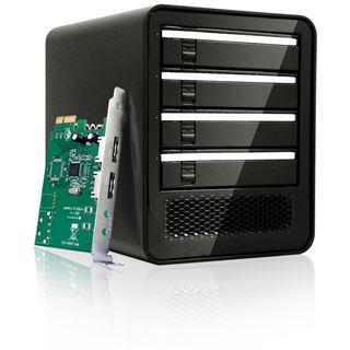Icy Dock eSATA/USB PM External 4 Drive Enclosure with 2 ports eSATA