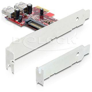 Delock 89272 2 Port PCIe 2.0 x1 retail
