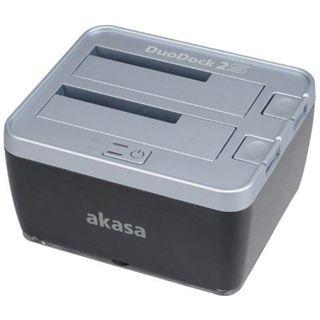 """Akasa DuoDock 2 USB 2.0/eSATA Dockingstation für 2.5"""" und 3.5"""" Festplatten (AK-DK02)"""
