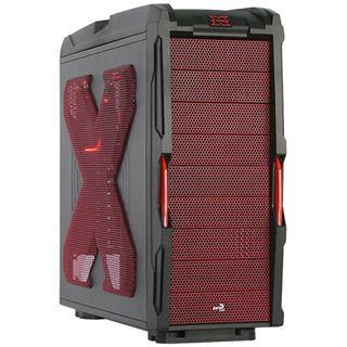 AeroCool Strike-X Midi Tower ohne Netzteil schwarz/rot