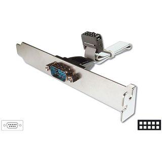 Good Connections Slotblechadapter Seriell 9pol Stecker auf 10pol Buchse Grau 0.20m Kabellänge