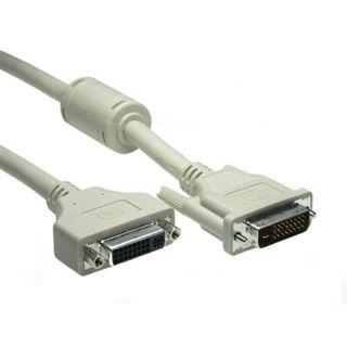 5.00m Good Connections DVI-D Verlängerungskabel DVI 24+1 Stecker auf DVI 24+1 Buchse Schwarz