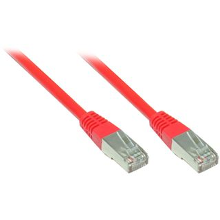 50.00m Good Connections Cat. 5e Patchkabel FTP RJ45 Stecker auf RJ45 Stecker Rot