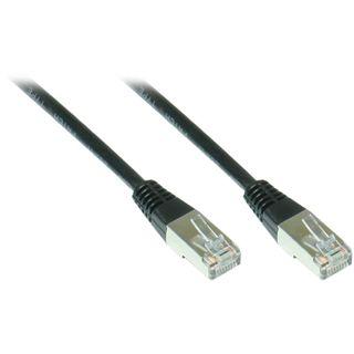 10.00m Good Connections Cat. 5e Patchkabel F/UTP RJ45 Stecker auf RJ45 Stecker Schwarz