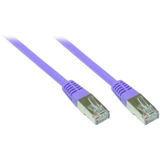 5.00m Good Connections Cat. 5e Patchkabel FTP RJ45 Stecker auf RJ45 Stecker Violett