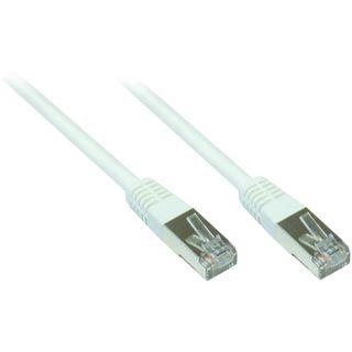 10.00m Good Connections Cat. 5e Patchkabel FTP RJ45 Stecker auf RJ45 Stecker Weiß