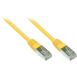 (€0,70*/1m) 7.00m Good Connections Cat. 5e Patchkabel FTP RJ45 Stecker auf RJ45 Stecker Gelb